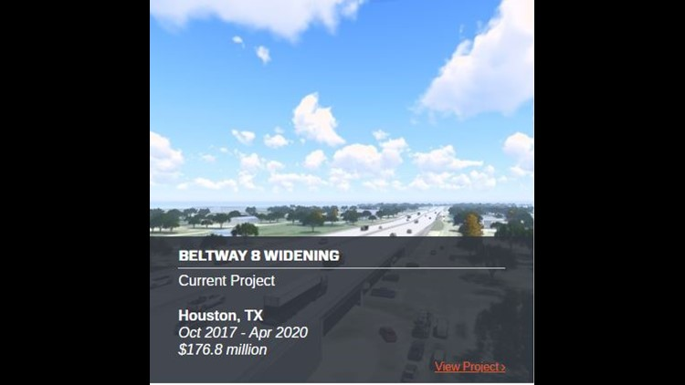 Quick glance at the Beltway 8 Contruction Project