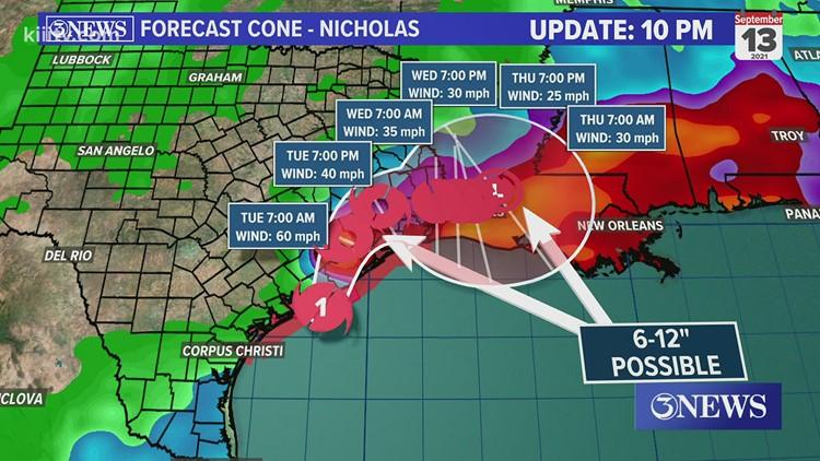 LIVE BLOG: Hurricane Nicholas makes landfall near Sargent