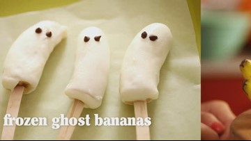 How to Make Frozen Ghost Bananas & Citrus Jack-O-Lanterns