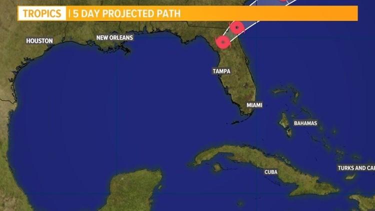 Tropical Storm Eta makes landfall early Thursday, now moving across north Florida