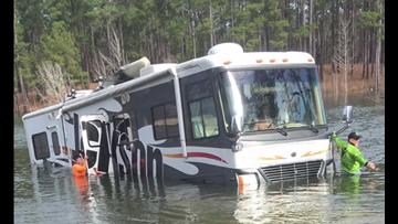 Dog puts fisherman's RV in reverse, backs it into Lake Sam Rayburn
