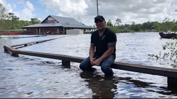 'I'm in four feet of water'   Gator Country flooded by Imelda, not sure how many gators are left
