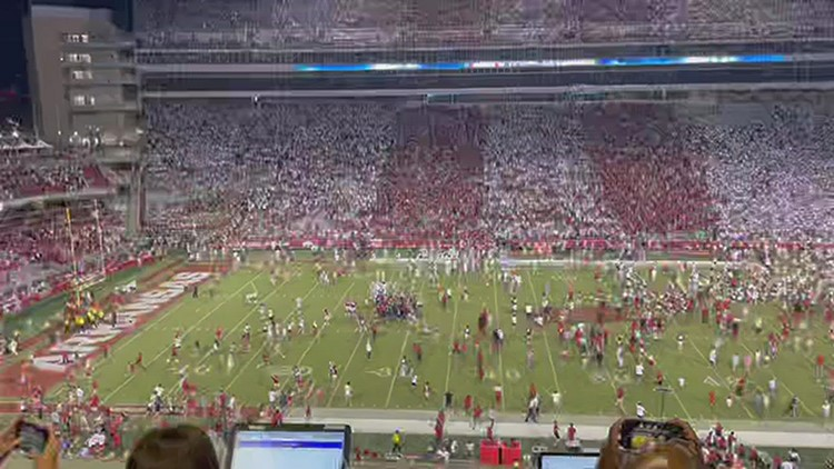 Arkansas fined by SEC for storming field after beating Texas