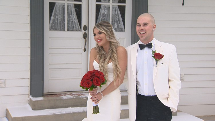 He was born on Valentine's Day. So was she. So naturally, they got married on Feb. 14