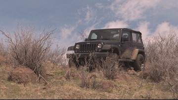 Someone tried to drive a Jeep up a Colorado mountain and now it's stuck there