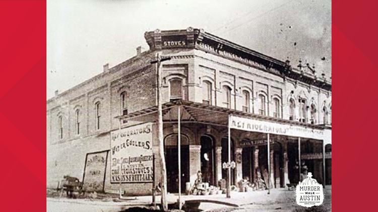 Shop in Downtown Austin, 1885.