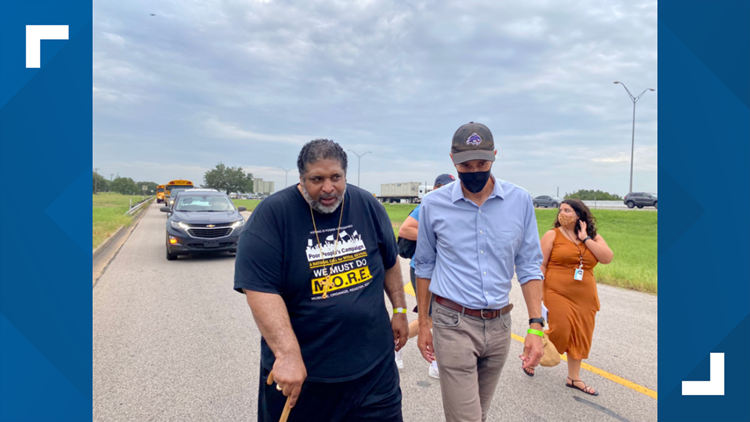 Voting rights activists, including Beto O'Rourke, continue march from Georgetown to Austin