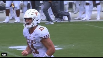 RECAP: No. 18 Texas Longhorns survive after allowing 14 unanswered second half points, win 19-14