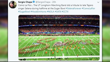 WATCH: Texas Longhorn Band pays tribute to Selena in Sugar Bowl halftime show