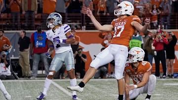 Dicker FG sends Texas over No. 20 Kansas State 27-24
