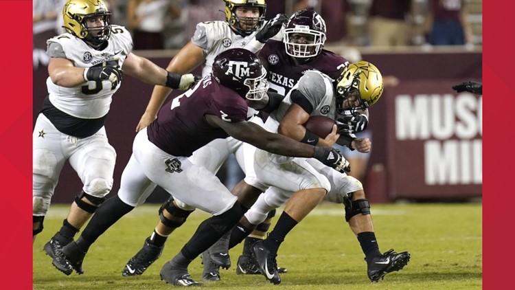 Texas A M Aggies Football Score Recap Vs Vanderbilt Commodores Kens5 Com