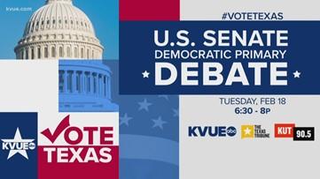 WATCH: U.S. Senate Democratic primary debate underway in Austin