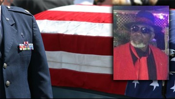 'No veteran should be buried alone': Daughter claims Air Force vet's flag after funeral goes public