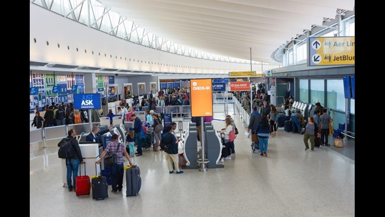 If you need to check-in at the airport, make sure to prepare for long lines. (Image by Sorbis/Shutterstock)