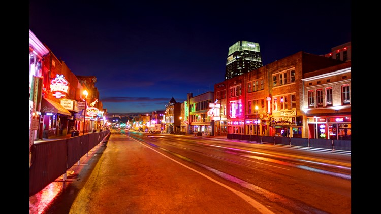 """This stretch of Broadway is known as the """"Honky Tonk"""" and was a fun spot to check out live music. This trip was extra sweet because I spent just $13 in taxes and fees to fly here by cashing in Rewards Miles on Delta Airlines."""