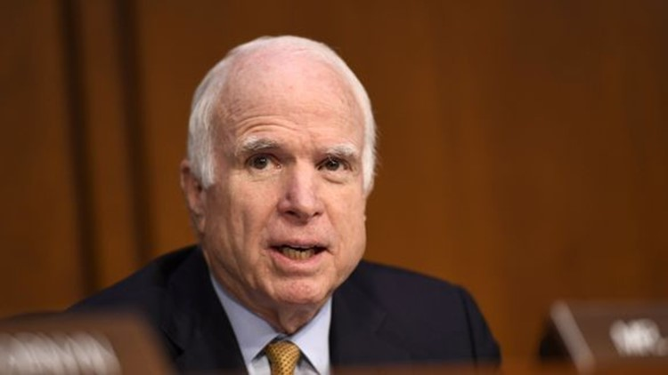 <p>Senator John McCain offered a harsh critique of President Trump's foreign policy, saying the U.S. was better off under President Obama. </p>