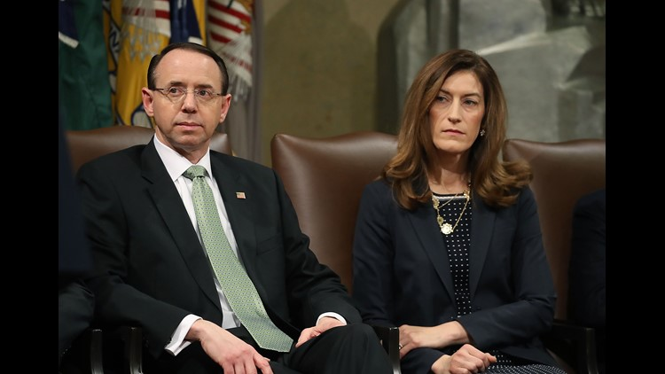 A friend of Associate Attorney General Rachel Brand told The Associated Press she is stepping down for a private sector job. Brand is next in succession at the Justice Department after Rod Rosenstein.