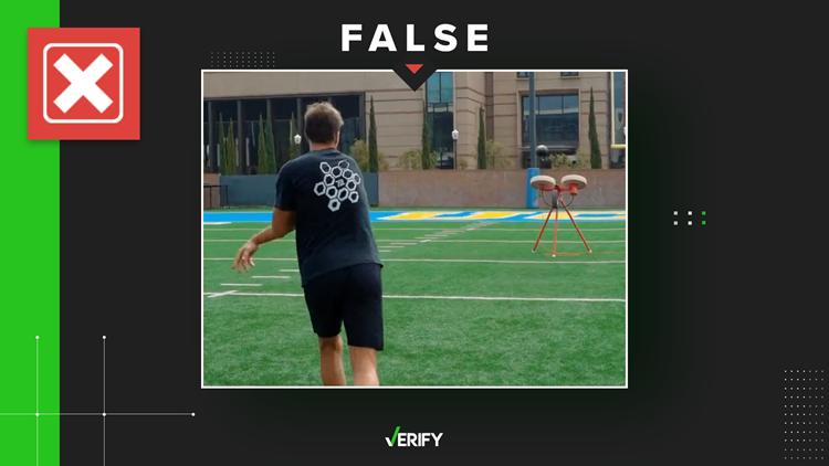 No, Tom Brady didn't play catch with a football throwing machine