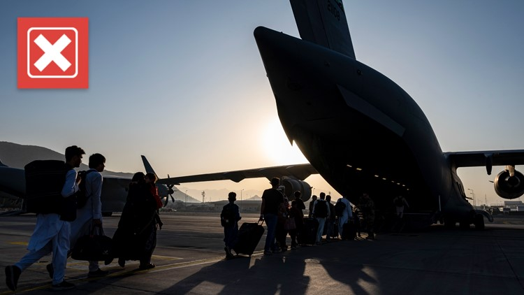 No, the US government is not charging Americans $2,000 to evacuate from Afghanistan