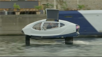 'Flying Taxi' Seen On Paris River May Be the Future of Public Transportation