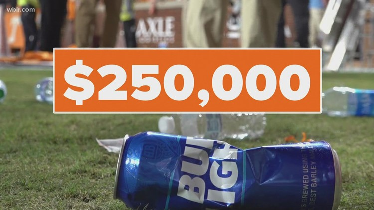 SEC fines Tennessee $250k after fans throwing trash on field halts game against Ole Miss