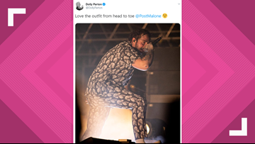 Post Malone sports Dolly-inspired outfit during Bonnaroo performance