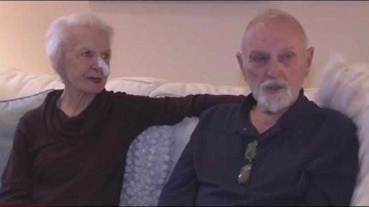 Couple, 82, survive by hiking out of fire on foot