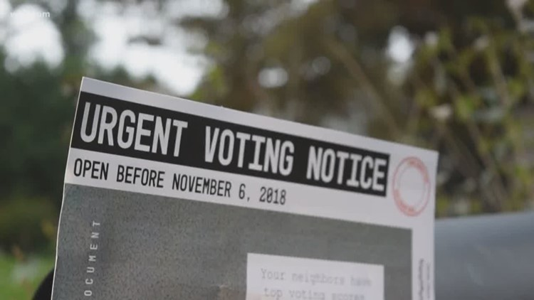 people find voter shaming flyers in their mail prior to election