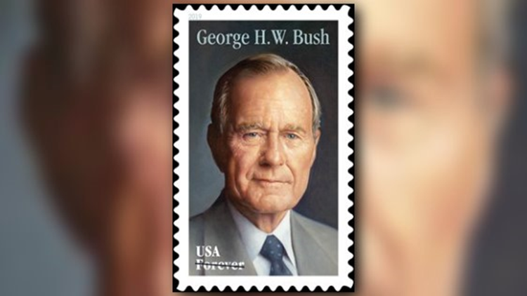 George H.W. Bush USPS 'forever' stamp will be issued today