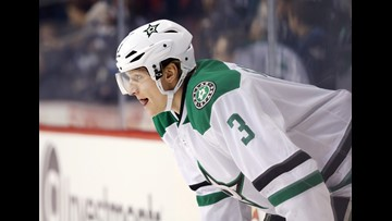 This Dallas Star is out with an injury. But his contribution off the ice is just as important.