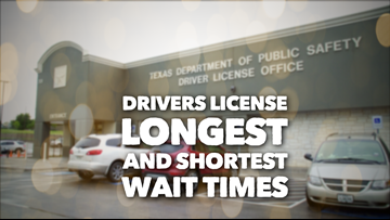 Here are the longest (and shortest) wait times for a Texas driver's license