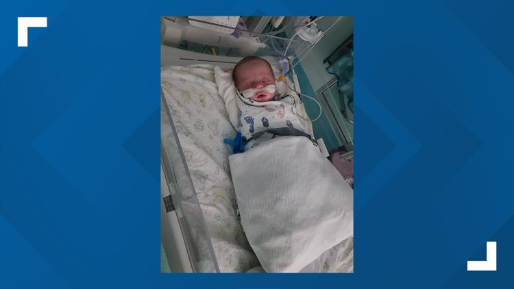 'I was watching my baby fade': Oklahoma mom flies newborn son with RSV to Texas hospital
