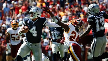 Dak double: Cowboys' Prescott beats Washington with legs, arm
