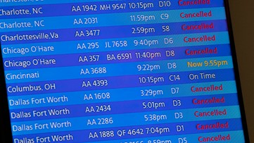 American Airlines' busiest flight from New York had 27 passengers this weekend