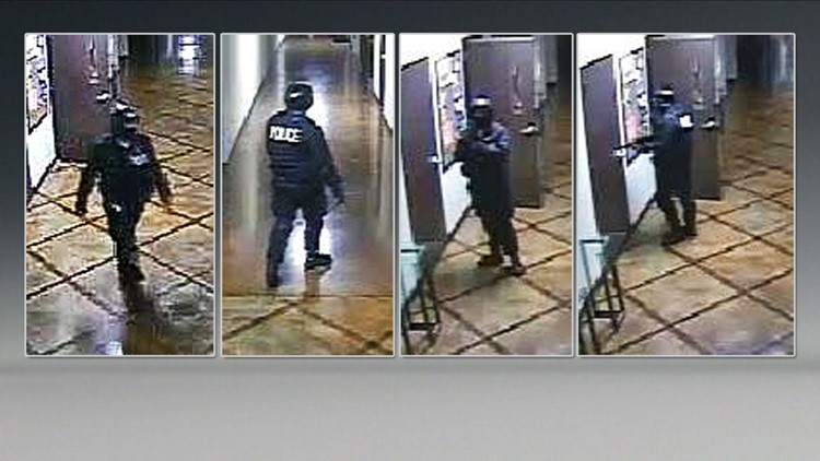 Midlothian police released this series of still images from a surveillance video showing the suspect in the murder of Terri Bevers at Creekside Church of Christ on April 18, 2016.