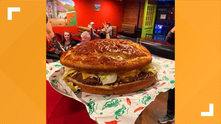 20-pound burger, the biggest in Texas, is now on the menu in Arlington