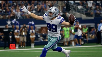 Cowboys' Jason Garrett: TE Blake Jarwin 'hasn't blinked'