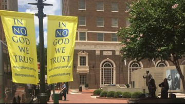 'In No God We Trust' banners stirring up controversy in Fort Worth