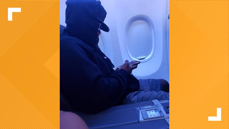 Ezekiel Elliott on a flight returning to Texas.