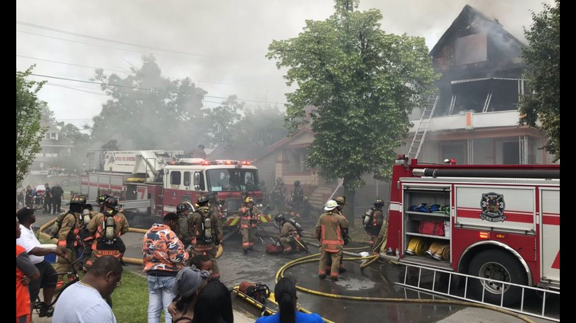 buffalo firefighter pulled from burning home on frankfort