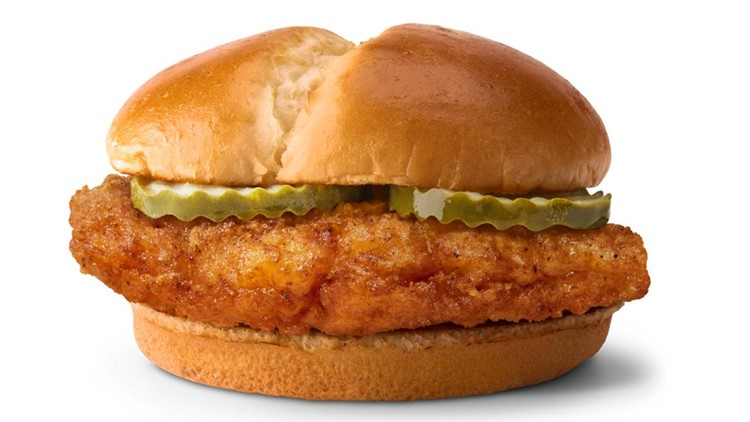 McDonald's new chicken sandwich available nationwide
