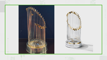 VERIFY: Yes, the Nationals'  World Series trophy is broken