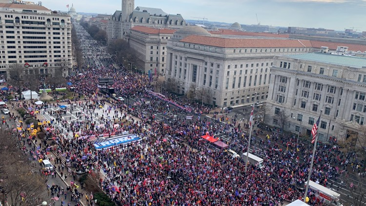 Lower turnout at second Million MAGA March in DC