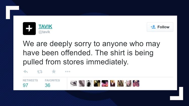 TAVIK apologizes for noose shirt