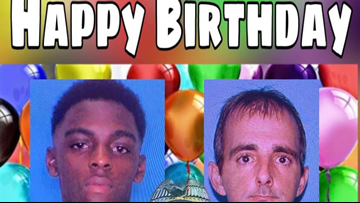Louisiana police department wishes wanted suspects a happy birthday