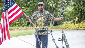 Man set to complete mission of mowing 50 lawns in 50 states for veterans