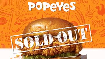 Popeyes sells 'B.Y.O.B.' sandwich to fill void until chicken sandwich returns